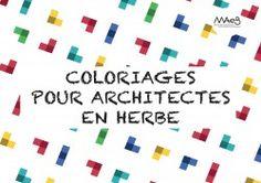 Nombreux coloriages de différents projets architecturaux