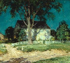 Willard Metcalf (American, 1858-1925)  Old Homestead Connecticut c. 1914  oil on canvas,26 × 29 in (66 × 73.7cm),Saint Louis Art Museum, St. Louis, MO