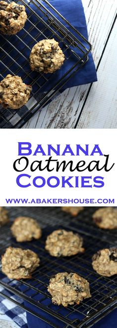 Banana Oatmeal Cookies add just enough of a twist to the traditional oatmeal cookie to make them special. With no added sugar, this recipe for banana oatmeal cookies packs the flavor without a heavy dose of sweetness. Made by Holly Baker at www.abakershouse.com