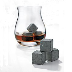 Glencairn Wide-Bowl Whisky Glasses and Arctic Rocks Set - Wine Enthusiast