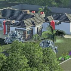 6 Bedroom House Plans – My Building Plans South Africa My Building, Building Plans, Architect Fees, 6 Bedroom House Plans, Home Design Floor Plans, Construction Drawings, Windows And Doors, Mj, Tuscany