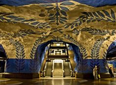 Swedish subway station