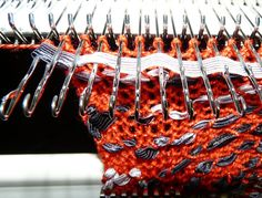Glamour on Knitting machine from Yet Another Canadian Artist's Web site.