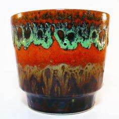 Fat Lava Planter / Cachepot / Übertopf • West German Pottery • 70's