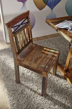 #Stuhl - Die Stücke unserer #Massivmoebel Serie SPIRIT sind aus recyceltem Altholz handgefertigt. Liebevoll wird das #Akazie - oder #Teak - #Holz von alten Brücken, Schiffen oder Möbeln neu zusammengestellt. Jedes Stück ein Unikat! Mit SPIRIT OF NATURE schont ihr nicht nur die Umwelt, sondern bringt auch individuellen Charme in eure 4 Wände. Alle Produkte und Infos zur Möbel-Serie in unserem Onlineshop: www.massivmoebel24.de