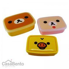Bento Rilakkuma - Frimousse x 3 / Rilakkuma Bento Boxes - Cute Faces x 3 $17.21