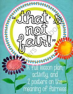 "Fairness Lesson, Activity, and Poster from The Bad Apple on TeachersNotebook.com - (14 pages) - ""That's not fair!!"" I hear it all the time. This mini-lesson is a great way to teach students about the meaning of fairness in the classroom, and in life in general."