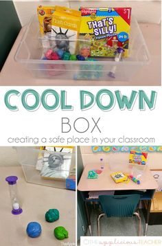 Using a Cool Down Box Helping Students Self Regulate in the Classroom is part of Classroom management - Create a safe place in your classroom with a cool down box This little place can help students self regulate and reflect on their big emotions Space Classroom, Classroom Behavior, Classroom Setting, Classroom Setup, Classroom Design, Preschool Classroom, Future Classroom, Classroom Activities, Classroom Organization