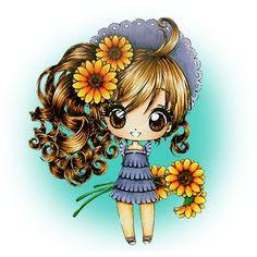 Faye's Sunflowers Digi Stamp in Digital images