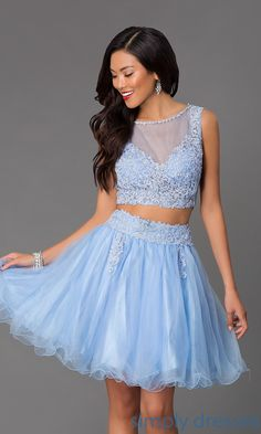 Shop short prom dresses and short formal dresses at Simply Dresses. Short semi-formal dresses, cocktail party dresses for prom, and short formal dresses for prom. Junior Prom Dresses, Prom Dresses 2015, Short Dresses, Formal Dresses, Party Dresses, Blue Green Dress, Two Piece Homecoming Dress, Prom Girl, Rock
