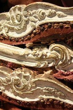 Wood Italian Settee Frame Fragments