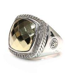 david yurman sterling silver u0026 18k gold pave diamond albion ring