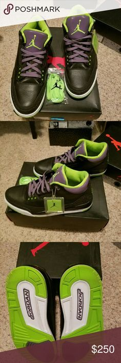 Air Jordan Retro 3 Joker's Excellent condition worn only twice! Comes with original box! Mens size 13! Everything in my closet is AUTHENTIC! Let me know if you want additional pics! Jordan Shoes