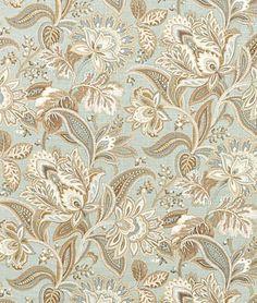 GOT IT -  Great room fabric (1 of 3): panel drapes & toss pillows. Swavelle/Mill Creek Valdosta Mist Fabric
