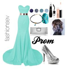 """""""Prom"""" by fashionsev ❤ liked on Polyvore featuring Terre Mère, Lancôme, MAC Cosmetics, Roger Vivier, Prom and Blue"""