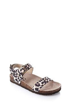 Buckled Leopard Sandals   FOREVER21