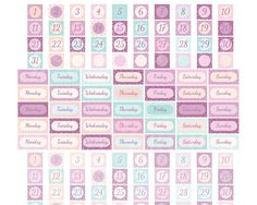 PRINTABLE Date Cover Planner Stickers Erin by EnjoyPlanning