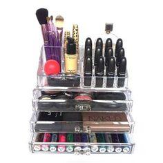 Organizador Porta Maquiagem Pincel Batom Acrilico 3 Gavetas! - R$ 69,99 no MercadoLivre