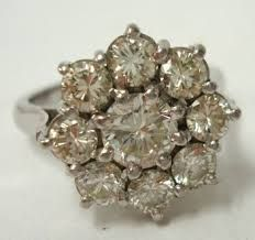 9 stone diamond cluster ring - Google Search