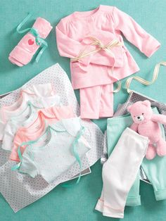 Soft, sweet baby clothing essentials, perfect for your bundle of joy.