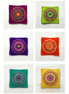 Embroidered Mandala Brooches | by MagaMerlina