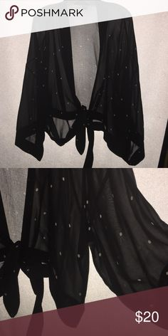 Stunning Chico's sheer silk wrap A beautiful way to dress up anything Chico's Jackets & Coats