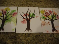 Autumn Tree Paintings {toddler craft}