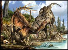 Torvosaurus attackTorvosaurus attack – Tempera and digital 2008 – Parco della Preistoria, Rivolta d'Adda