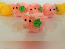 Glücksschweinchen mit Kleeblatt   Häkelanleitung  *Glücksschweinchen in einem Stück ansatzlos gehäkelt*