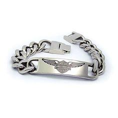 Harley Davidson Chunky mens titanium insignia bracelet