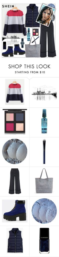 """Shein.Cut And Sew Sweatshirt"" by natalyapril1976 ❤ liked on Polyvore featuring The Body Shop, Clé de Peau Beauté, Miu Miu, Sole Society, J.Crew, Illamasqua and Skagen"