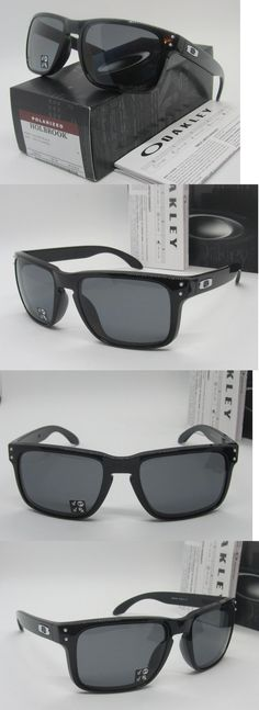 228e7f3dbd9 ... low price mens accessories 4250 oakley polished black grey polarized  holbrook oo9102 02 sunglasses new 91e23