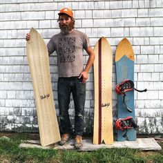 Jesse Loomis builds snowboards by hand that harken back to the early days of snowboarding. Read the full story at gear.gp #snowboarding #handmade (photo: @powell_photo) by gearpatrol