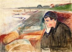 Evening. Melancholy1891Munch Museum, Oslo, Norway - Edvard Munch