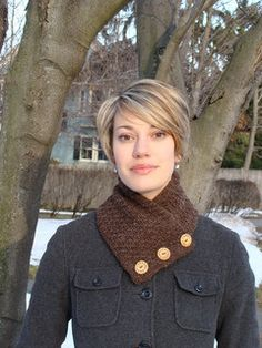 Short Button Scarf by Dirtpatcheaven on Etsy