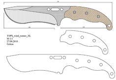tops_wind_runner_XL Model (1).pdf - OneDrive Blades Of Glory, Knife Template, Diy Knife, Knife Patterns, Belt Grinder, Knife Making, New Model, Blacksmithing, Metal Working