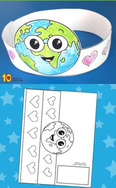 Fantastic Earth Day Craft And Activity For Kids · The Inspiration Edit Earth Craft, Earth Day Crafts, Preschool Art, Preschool Activities, Art For Kids, Crafts For Kids, Earth Day Activities, Handprint Art, In Kindergarten