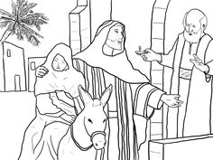 Sunday School - Christmas Bible Coloring Pages