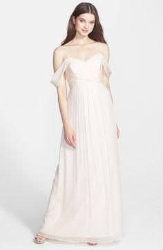 Amsale Crinkled Silk Chiffon Gown   Nordstrom