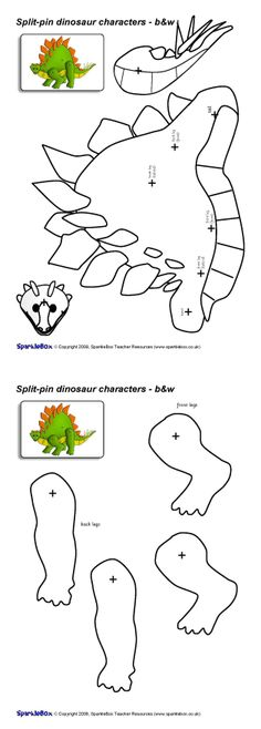 Image result for dinosaur body parts template for balloon | cumple ...