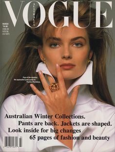 Paulina Porizkova covers Vogue Australia March