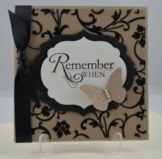 Stampin'Up!s Mocha Morning Specialty DSP, with black flocking. /from Sherendipity's Blog