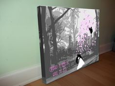 Wedding day signature guest book canvas by www.generationInspiration.co.uk