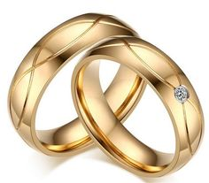 Cheap stainless steel, Buy Quality rings for men directly from China fashion rings Suppliers: Gold color stainless steel fashion for Love Luxury CZ Zircon couple rings for men women wedding ring pair fine jewelry New Infinity Ring Wedding, Gold Wedding Rings, Wedding Rings For Women, Wedding Ring Bands, Rings For Men, Crystal Wedding, Couple Rings, Promise Rings For Couples, Cubic Zirconia Wedding Rings