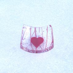 Fused Glass Dish - Small Jewelry Dish or Sauce Dish - Pink Heart on Clear Pink Purple Confetti Glass by GreenhouseGlassworks on Etsy https://www.etsy.com/listing/175614559/fused-glass-dish-small-jewelry-dish-or