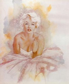 Artist Unkown. || This image first pinned to Marilyn Monroe Art board, here: http://pinterest.com/fairbanksgrafix/marilyn-monroe-art/ ||