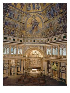 Interior View of the Florence Baptistery (Photo) Giclee Print by Italian at AllPosters.com