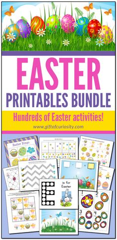 The Easter Printables Bundle features hundreds of pages of printable Easter-themed activities. Ideal for kids ages Perfect for Easter learning all spring long! Easter Bingo, Easter Play, Easter Egg Coloring Pages, Spring Coloring Pages, Easter Activities For Kids, Kids Learning Activities, Preschool Kindergarten, Preschool Ideas, Easter Drawings