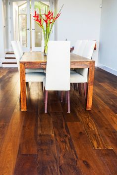 Beautiful smoked white oak, finished in a UV matt lacquer. Boasts wonderful colour variation, along with large knots and cracks. Adds so much warmth to the room.