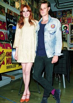 Karen Gillan + Matt Smith